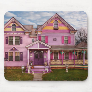 House - Victorian - I love bright colors Mouse Pad