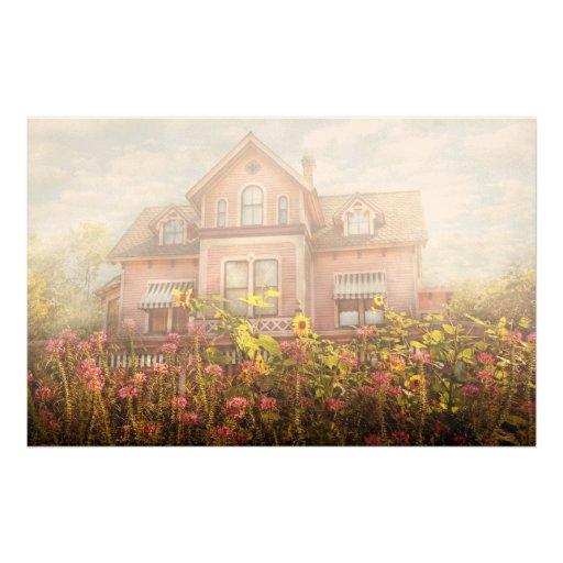 House - Victorian - Summer Cottage  Stationery Design
