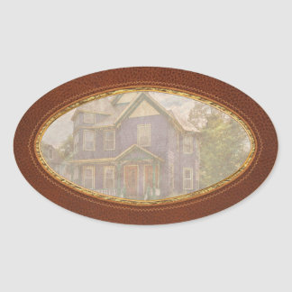 House - Victorian - The old ladies house Oval Sticker