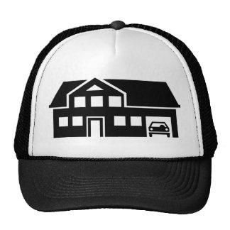 House villa car mesh hats