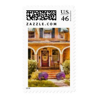 House - Visiting Grandma Postage Stamp