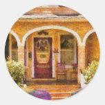 House - Visiting Grandma Round Stickers