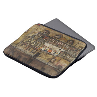 House Wall on River by Egon Schiele Laptop Sleeve