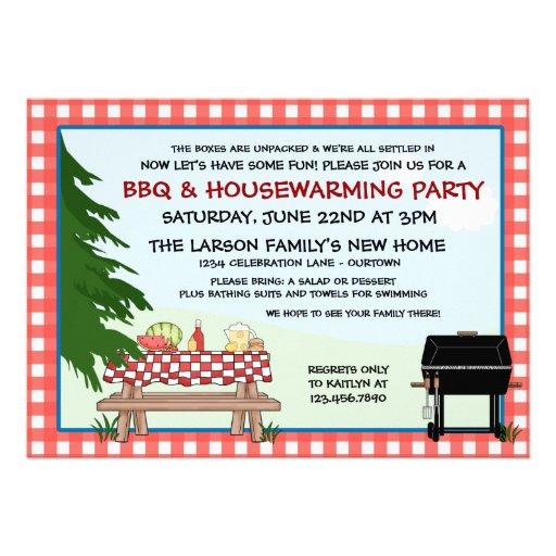 House Warming Barbecue Invitations