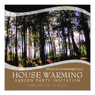 """House Warming Garden Party Invitation 5.25"""" Square Invitation Card"""