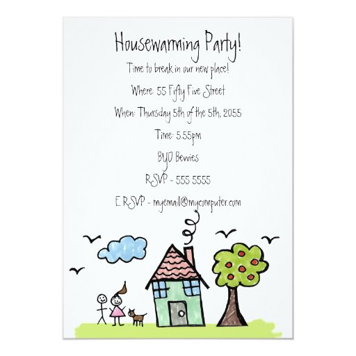 House Warming Moving Party Invite Invitation