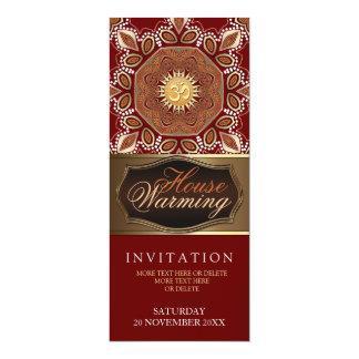 "House Warming Om Earth Party Invitation 4"" X 9.25"" Invitation Card"
