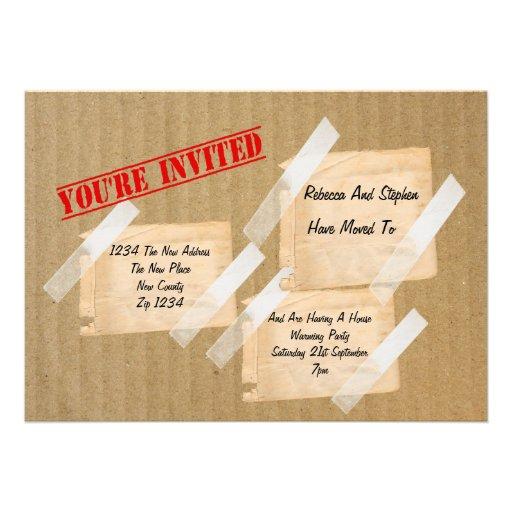 House Warming Party CardBoard Box Custom Invite