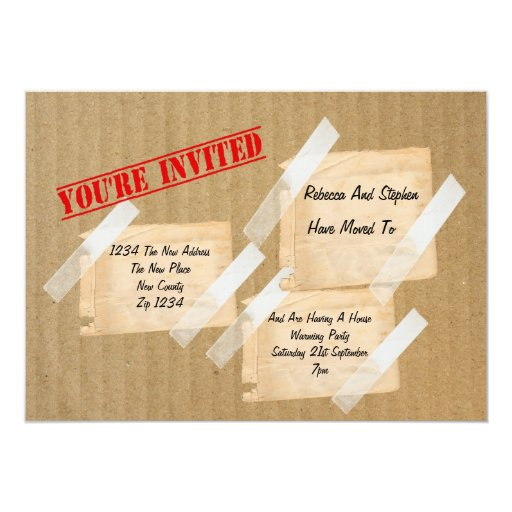 House Warming Party CardBoard Box Custom Invite
