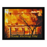 """House Warming Time 4.25"""" X 5.5"""" Invitation Card"""