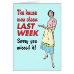 House Was Clean Card