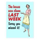 House Was Clean Postcard