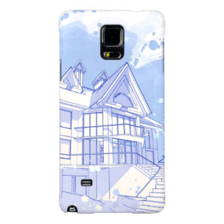 house: watercolor draw galaxy note 4 case