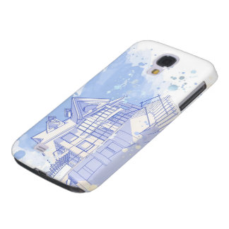 house: watercolor draw galaxy s4 cover