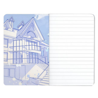 house: watercolor draw journal
