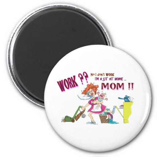 House Wife 2 Inch Round Magnet