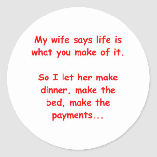 house wife classic round sticker