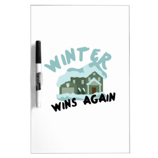House Winter Wins Dry-Erase Board
