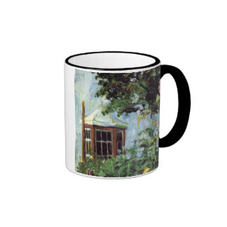 House with a Bay Window in the Garden Ringer Mug