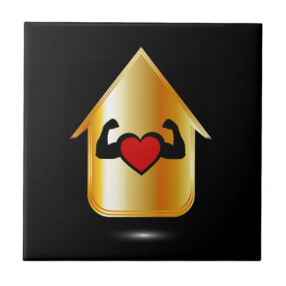 House with a healthy heart ceramic tile