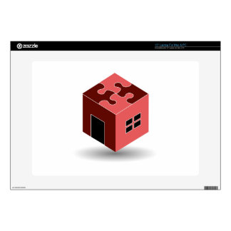 House with a puzzle roof skin for laptop