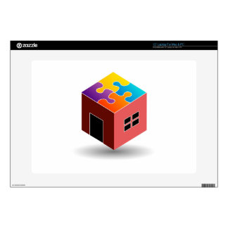 House with a puzzle roof laptop skins
