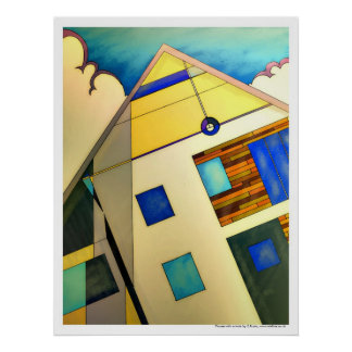 House with a twist poster art print