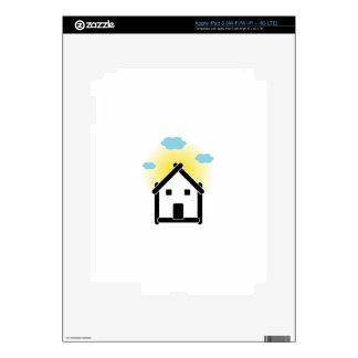 House with cloud and sunlight decal for iPad 3