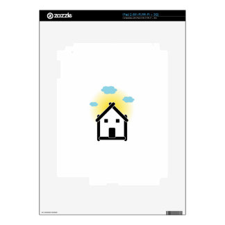 House with cloud and sunlight decal for the iPad 2