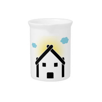 House with cloud and sunlight drink pitcher