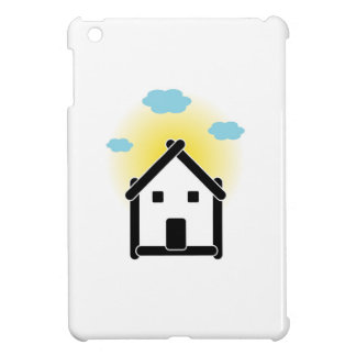 House with cloud and sunlight iPad mini cover
