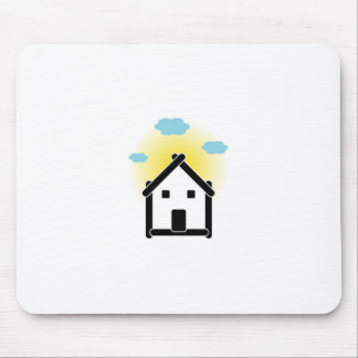 House with cloud and sunlight mouse pad