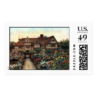 House with Flowers Stamps