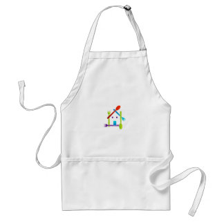 House with forks and spoons adult apron