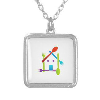 House with forks and spoons jewelry
