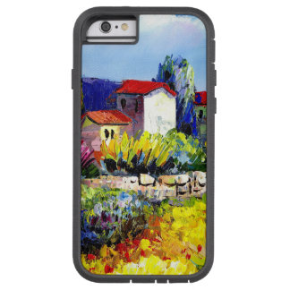 house with garden colorful oil painting travel fun tough xtreme iPhone 6 case
