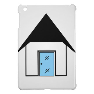 House with glass door case for the iPad mini