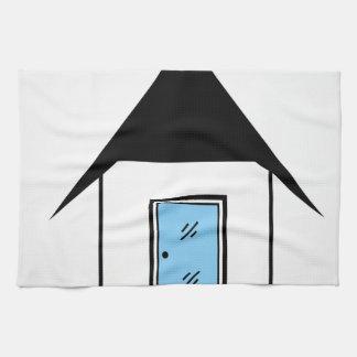 House with glass door hand towel