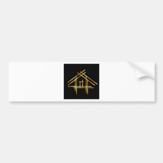 House with golden sticks bumper sticker