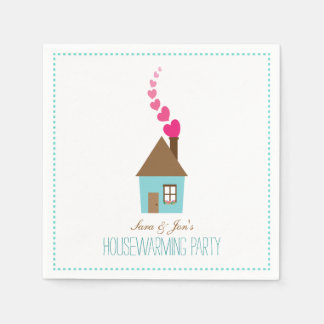 House with Hearts Housewarming Party Personalized Napkin