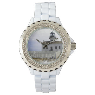 House with Light Wrist Watch
