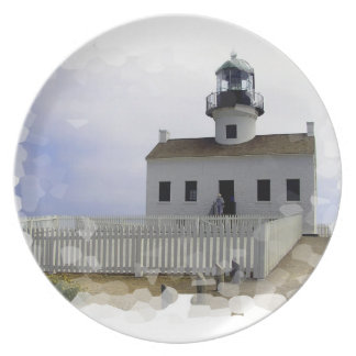 House with Lighthouse Plate