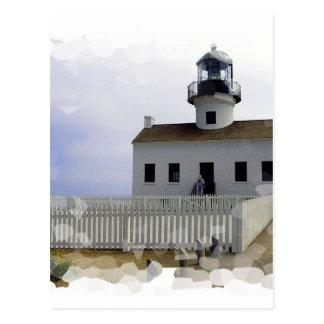 House with Lighthouse Postcard