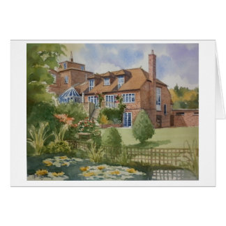 House with Lily pond Greeting Card