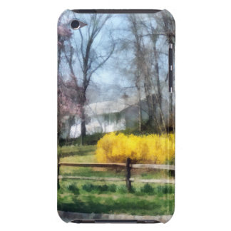 House With Magnolias and Forsythia iPod Touch Cases