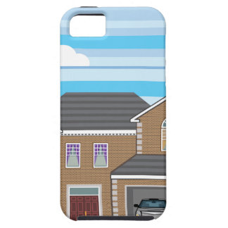 House with open garage. 2 cars iPhone SE/5/5s case