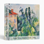 House With Red Roof By Paul Cézanne (Best Quality) 3 Ring Binders