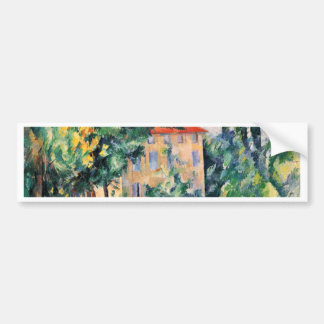 House With Red Roof By Paul Cézanne (Best Quality) Car Bumper Sticker