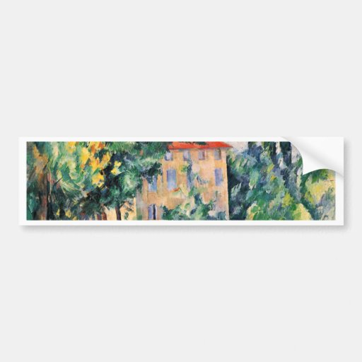House With Red Roof By Paul Cézanne (Best Quality) Bumper Stickers
