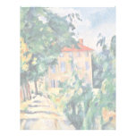 House With Red Roof By Paul Cézanne (Best Quality) Personalized Letterhead